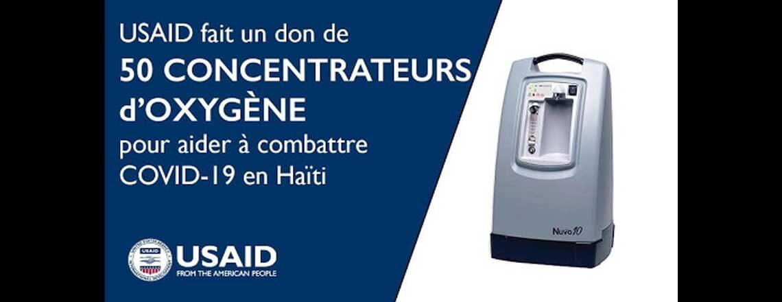 États-Unis font don de 50 concentrateurs d'oxygène vitaux à Haïti pour combattre COVID-19