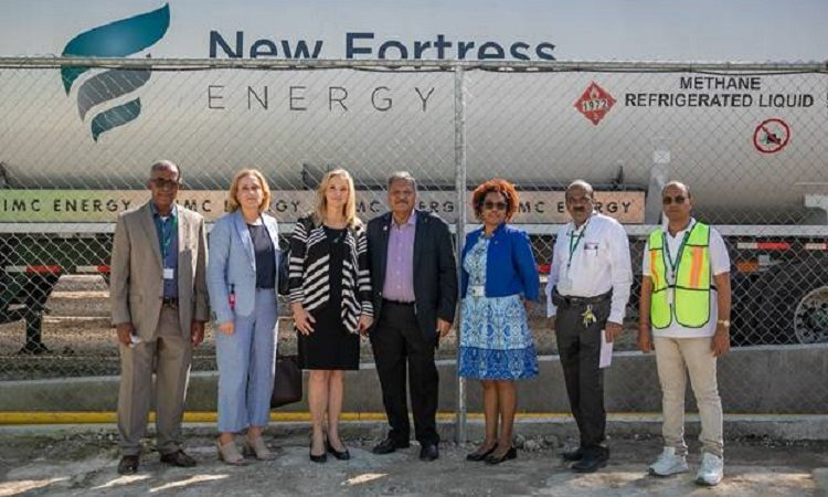 Deputy Assistant Secretary Cynthia Kierscht and owners of Les Entreprises Plastech Haiti S.A. and Plastech Solutions S.A.