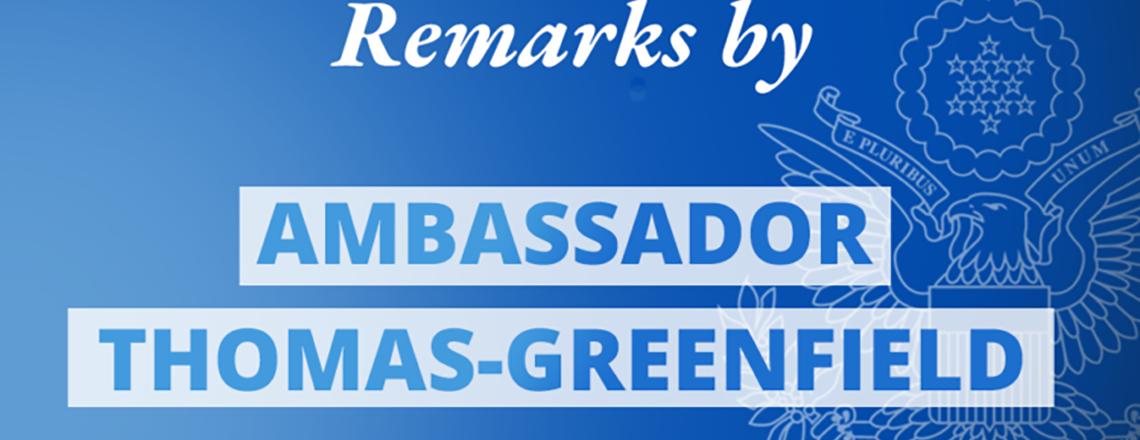 Remarks by Ambassador Linda Thomas-Greenfield at a UN Security Council Briefing on Haiti