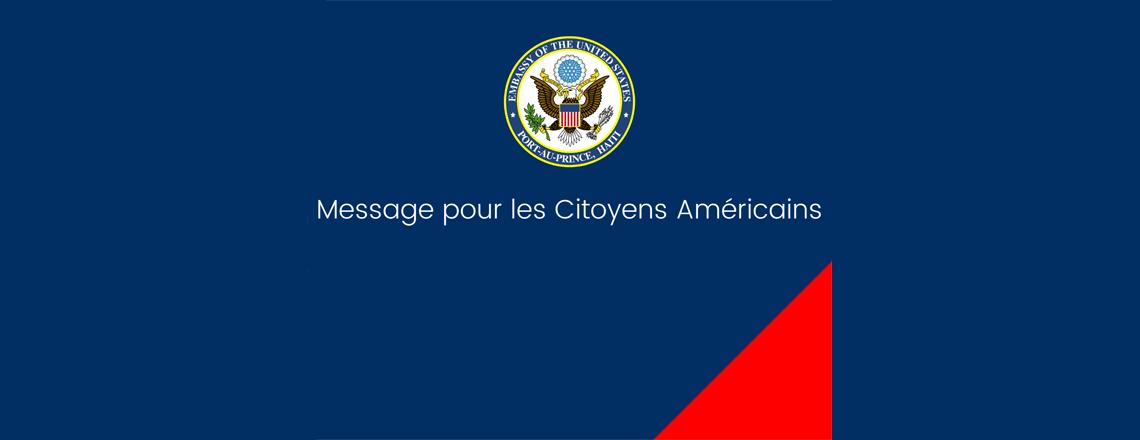 Alerte santé – Ambassade des États-Unis à Port-au-Prince (le 30 mars 2020)
