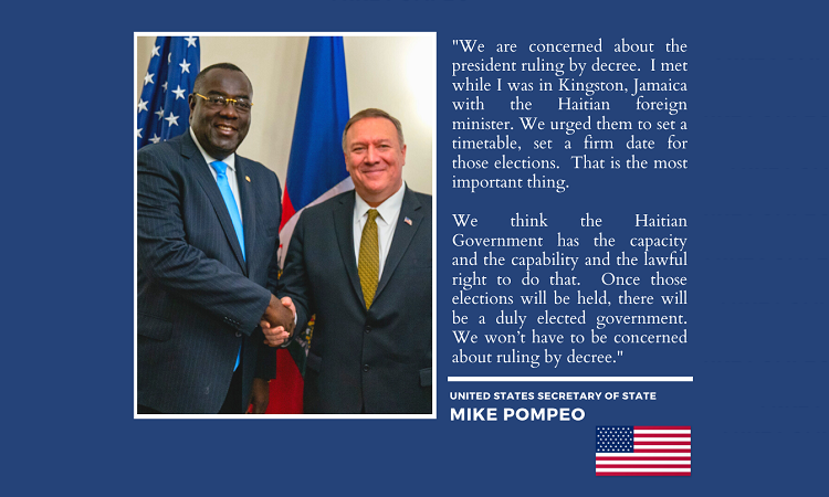 U.S. Secretary of State Mike Pompeo Election Message