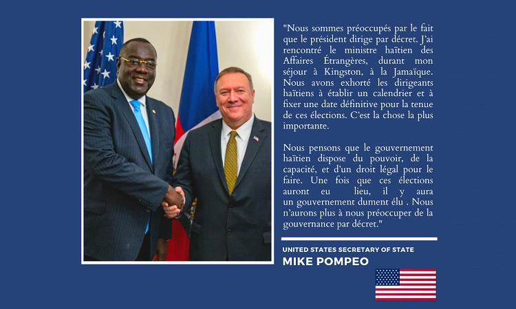 Message électoral du secrétaire d'État américain Mike Pompeo