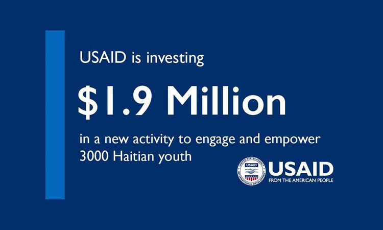 USAID is investing 1.9 Million dollars in a new activity to engage and empower 3000 Haitian youth text