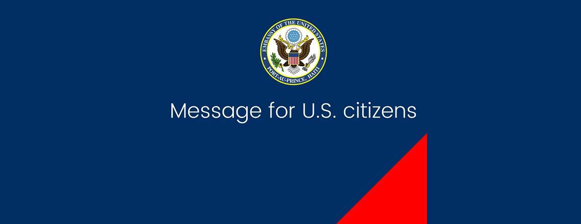 Health Alert – U.S. Embassy Port-Au-Prince (April 29, 2020)