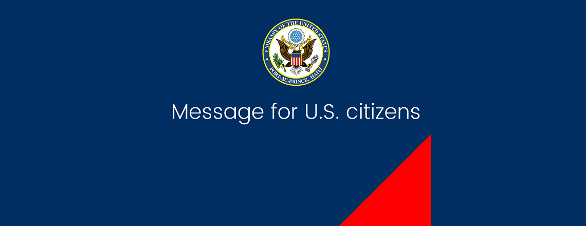 Health Alert – U.S. Embassy Port-Au-Prince (March 31, 2020)