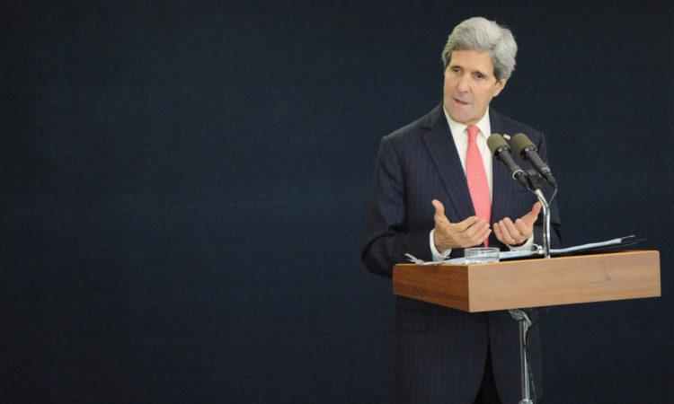 Secretary Kerry at podium