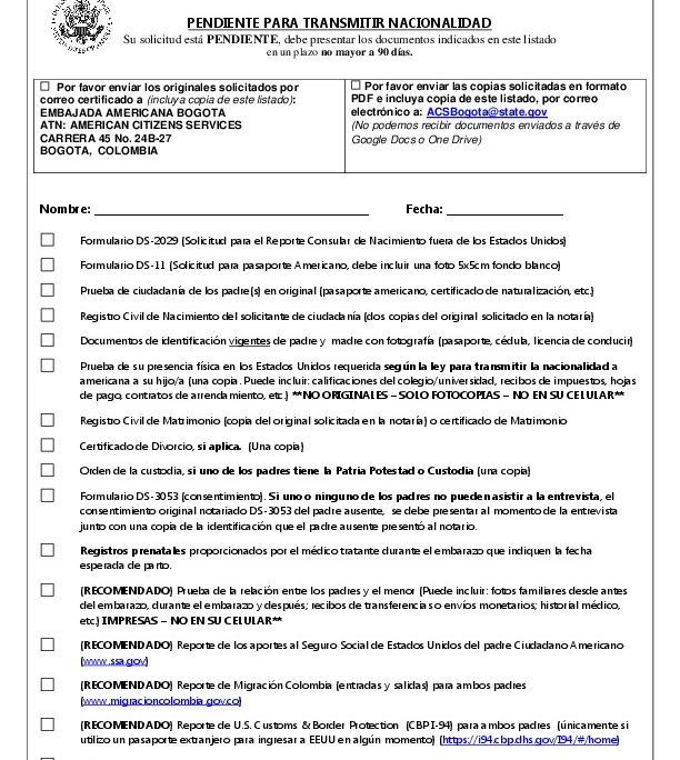 Check list in English_Spanish 2018_CRBA | U S  Embassy in