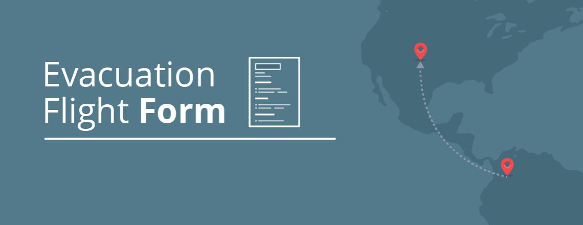 Formulario de registro para vuelo de evacuación
