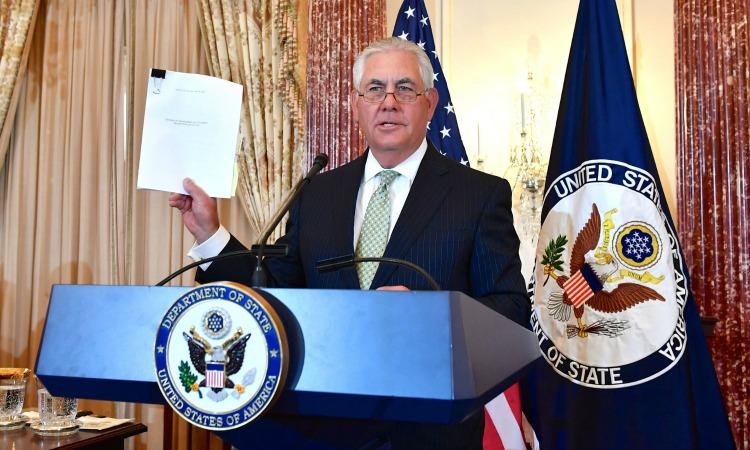Secretario de Estado Tillerson en lanzamiento del Informe sobre Tráfico de Personas de 2017