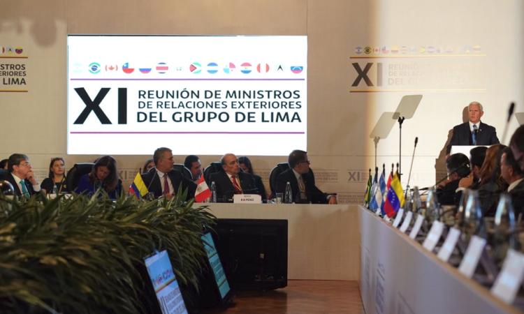 Declaraciones del vicepresidente Pence en la reunión del Grupo de Lima
