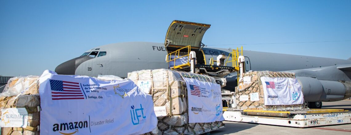 U.S. donation of 4.25 tons of supplies arrives in Chile to help deal with Covid