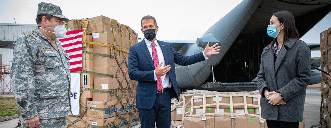 US Transports donation of 87,000 personal protection items to help Chile