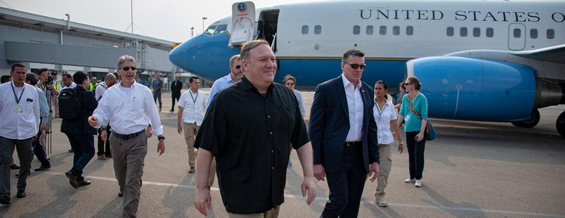 Secretario Pompeo culmina viaje a Sudamérica con una parada en Cúcuta