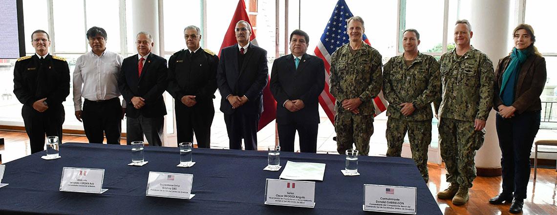 Inauguración del cuarto despliegue del buque hospital USNS Comfort en el Perú