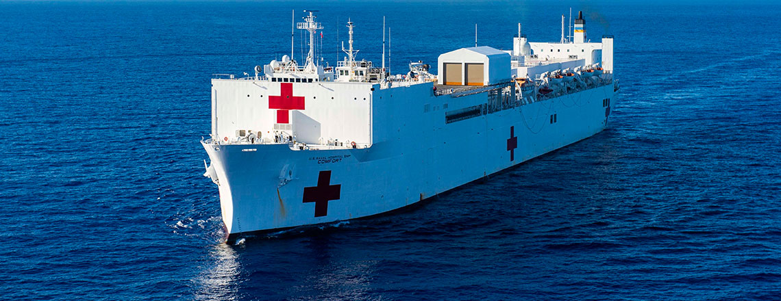 Hospital ship USNS Comfort will treat patients in Callao