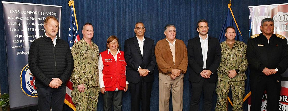 Culmina misión médica del buque hospital USNS Comfort en el Perú