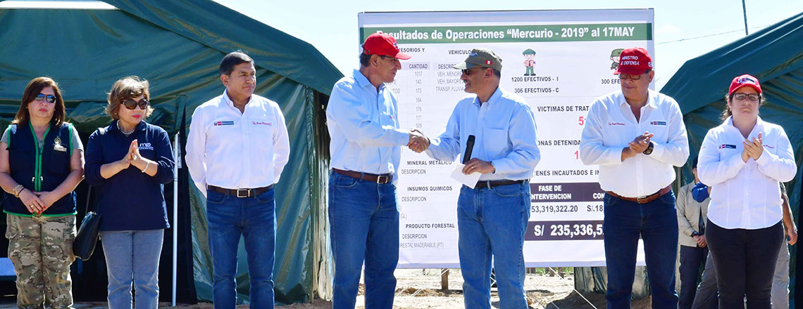 Ambassador Urs presents donation to fight illegal mining