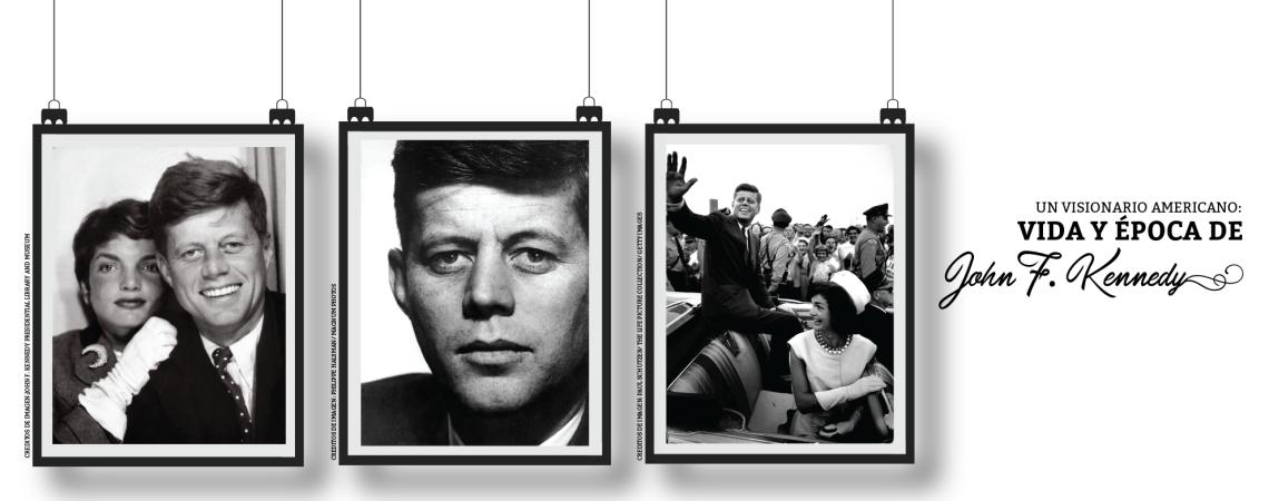 """Exhibición Fotográfica """"Un Visionario Americano: Vida y Época de John F. Kennedy""""."""
