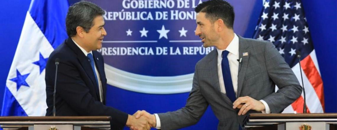Palabras del Secretario Interino de DHS Chad Wolf con el Presidente Hernández