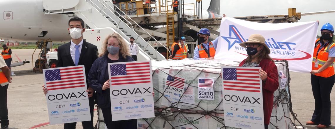 Nueva Donación a Honduras de 1.5 millones de dosis de vacunas contra COVID-19