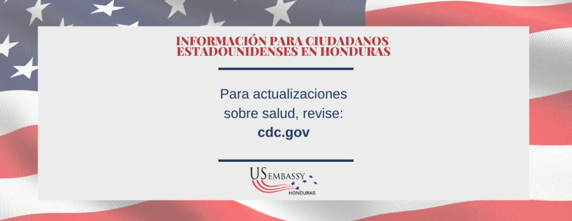 Información de los Centros para el Control y la Prevención de Enfermedades (CDC)