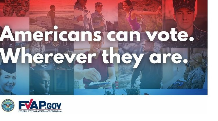 Americans can vote. Wherever they are