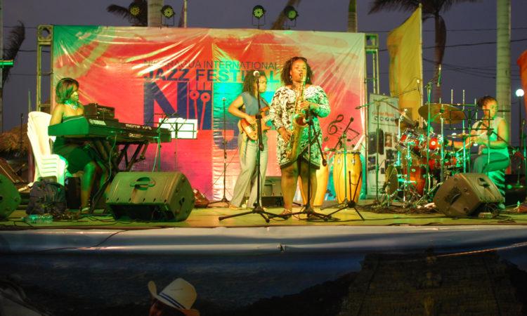 Mujeres del jazz durante uno de sus conciertos