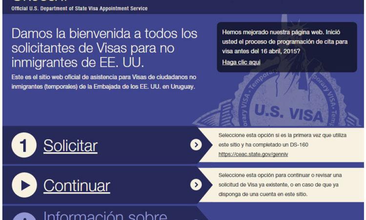 Nueva Interfase para el siti oweb del Servicio de Visas de Estados Unidos