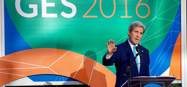 U.S. Secretary of State John Kerry at the Global Entrepreneurial Summit