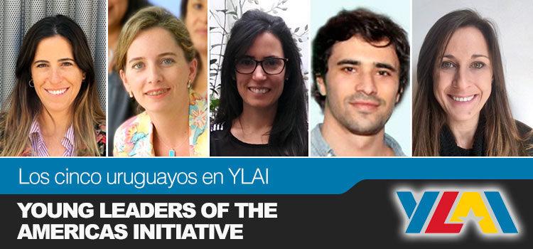 Collage con las caras de los uruguayos que participarán del Programa YLAI