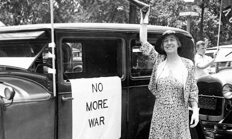 Jeannette Rankin, first woman elected to Congress.