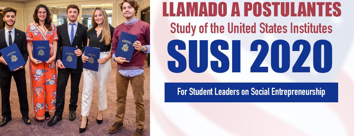 Beca SUSI 2020 para Estudiantes Líderes en Emprendedurismo Social