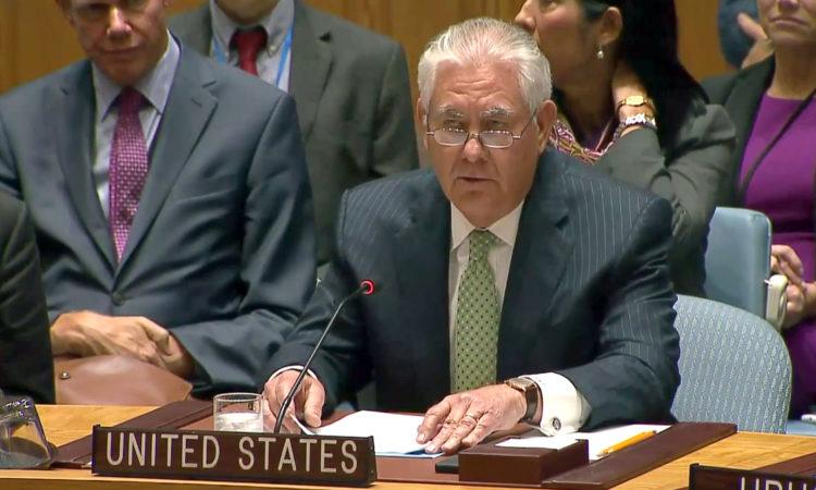 Tillerson-Non-Proliferation