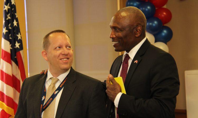Ambassador John Estrada and DCM John McIntyre