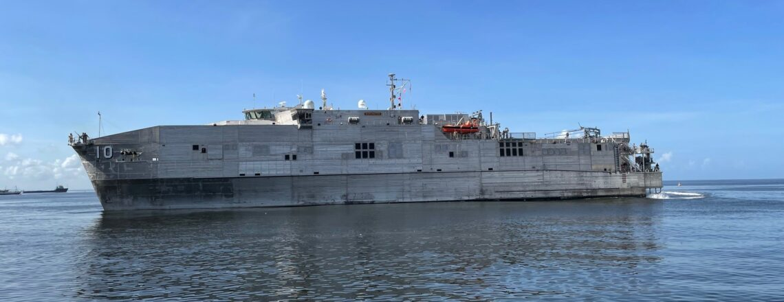 USNS Burlington Arrives in Port of Spain for Military Exercises with TTDF