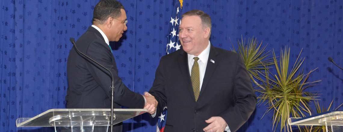 Secretary Michael Pompeo Visits Jamaica