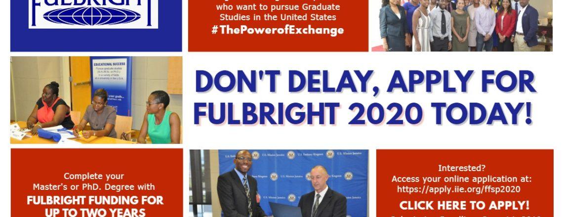 Deadline Extended: 2020 Fulbright Graduate Student Program