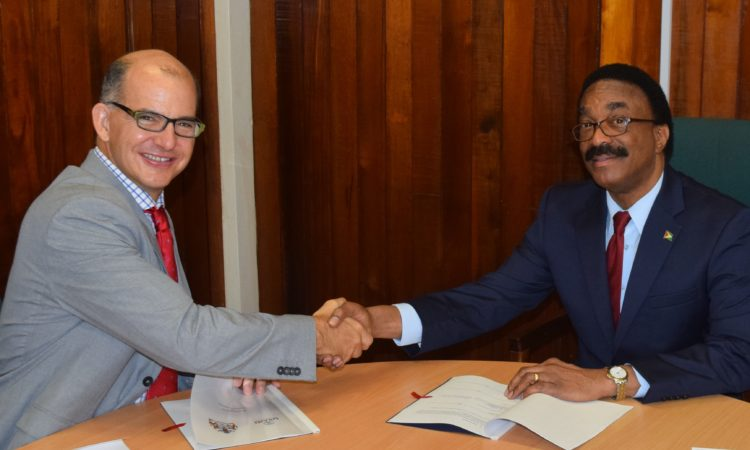 Signing of MOU.