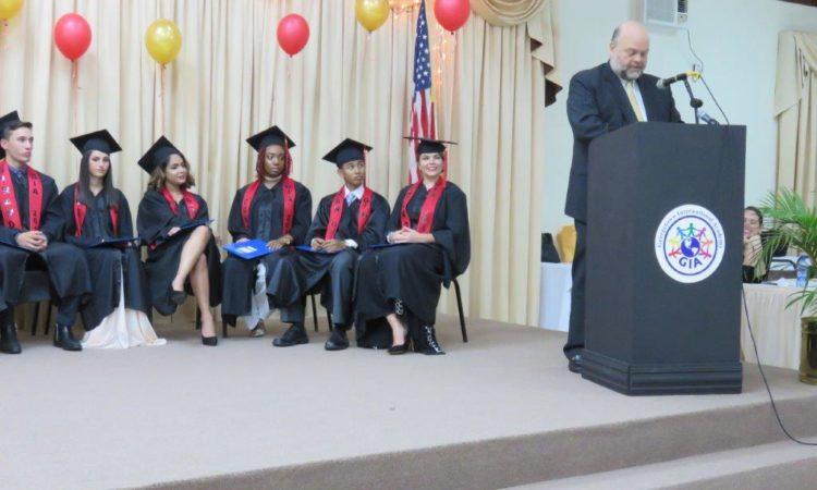 U.S. Ambassador addressing GIA graduating class of 2017