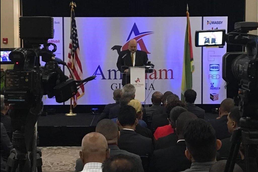 Ambassador Holloway at AMCHAM Guyana Launch