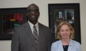Ambassador Sarah-Ann Lynch and Fulbright Scholar Norman Munroe