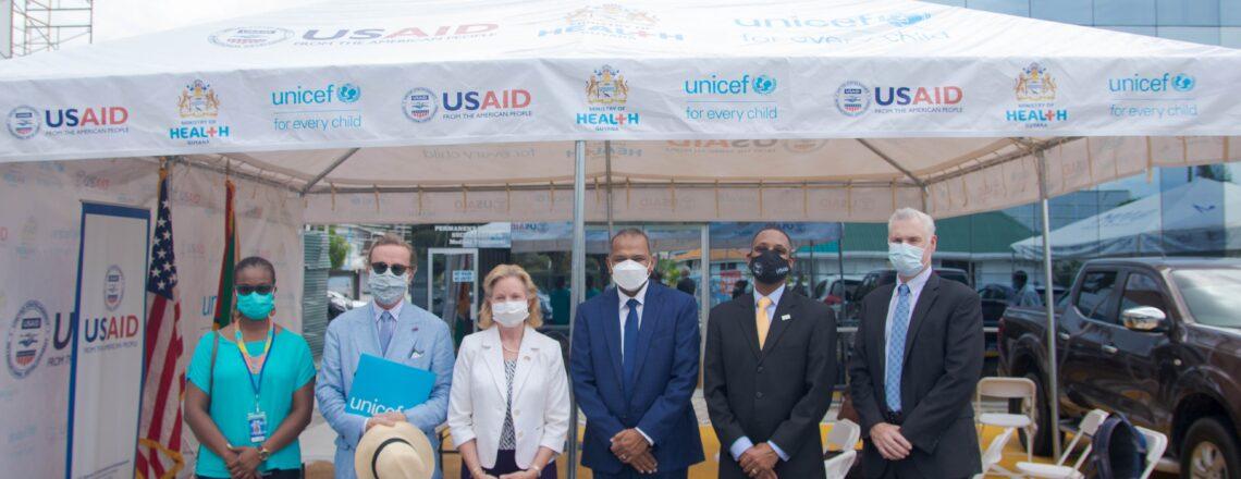 United States Donates Tents to Guyana's Community Vaccination Program