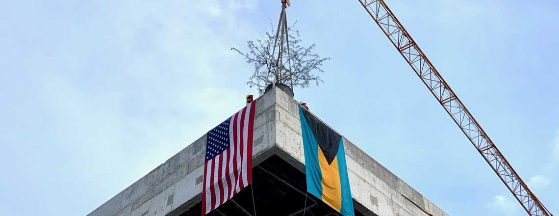 U.S Embassy Celebrates Completion of Physical Structure of New Embassy