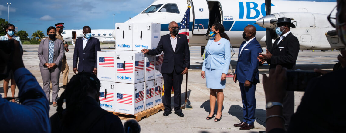 U.S. Embassy Delivers 128,700 Pfizer COVID-19 Vaccines to The Bahamas