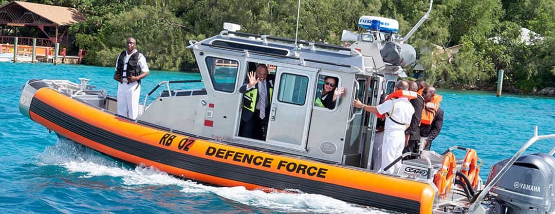 U.S. Charge Donates Safeboat to RBDF
