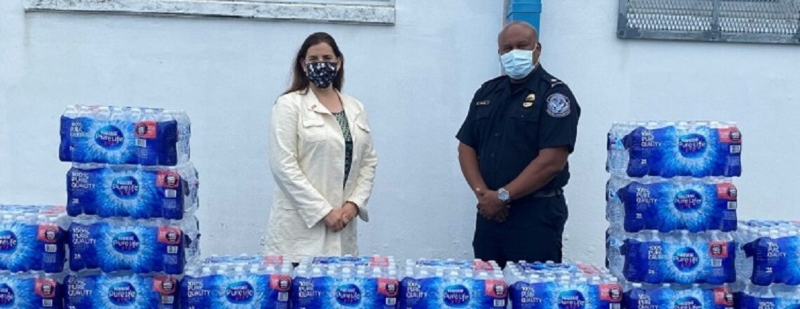 U.S. Consulate General and U.S. Customs and Border Protection (CBP) Donate Water Supply