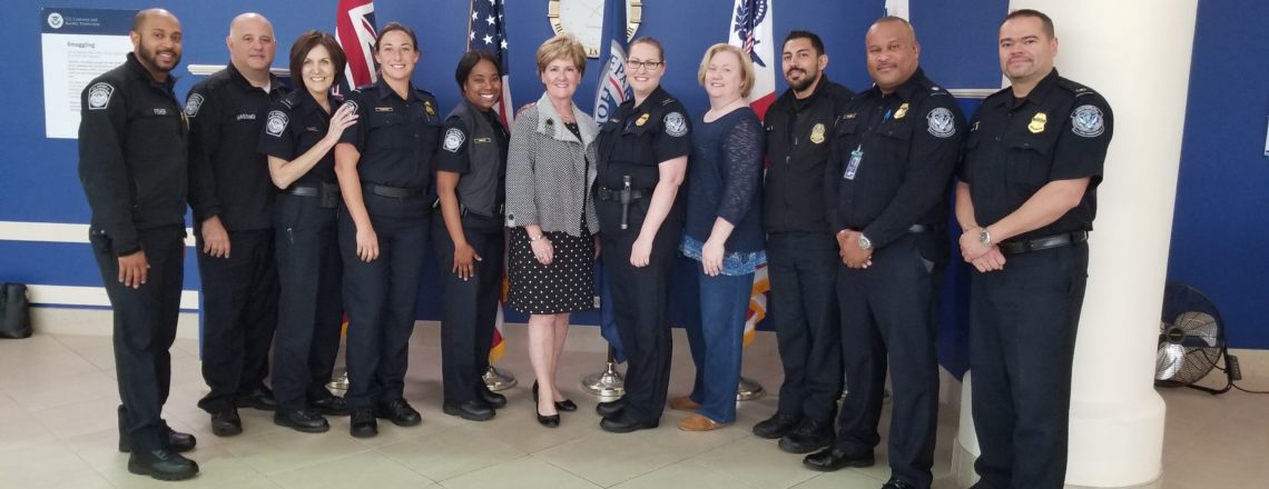 The Consul General Celebrates Women's History Month with CBP