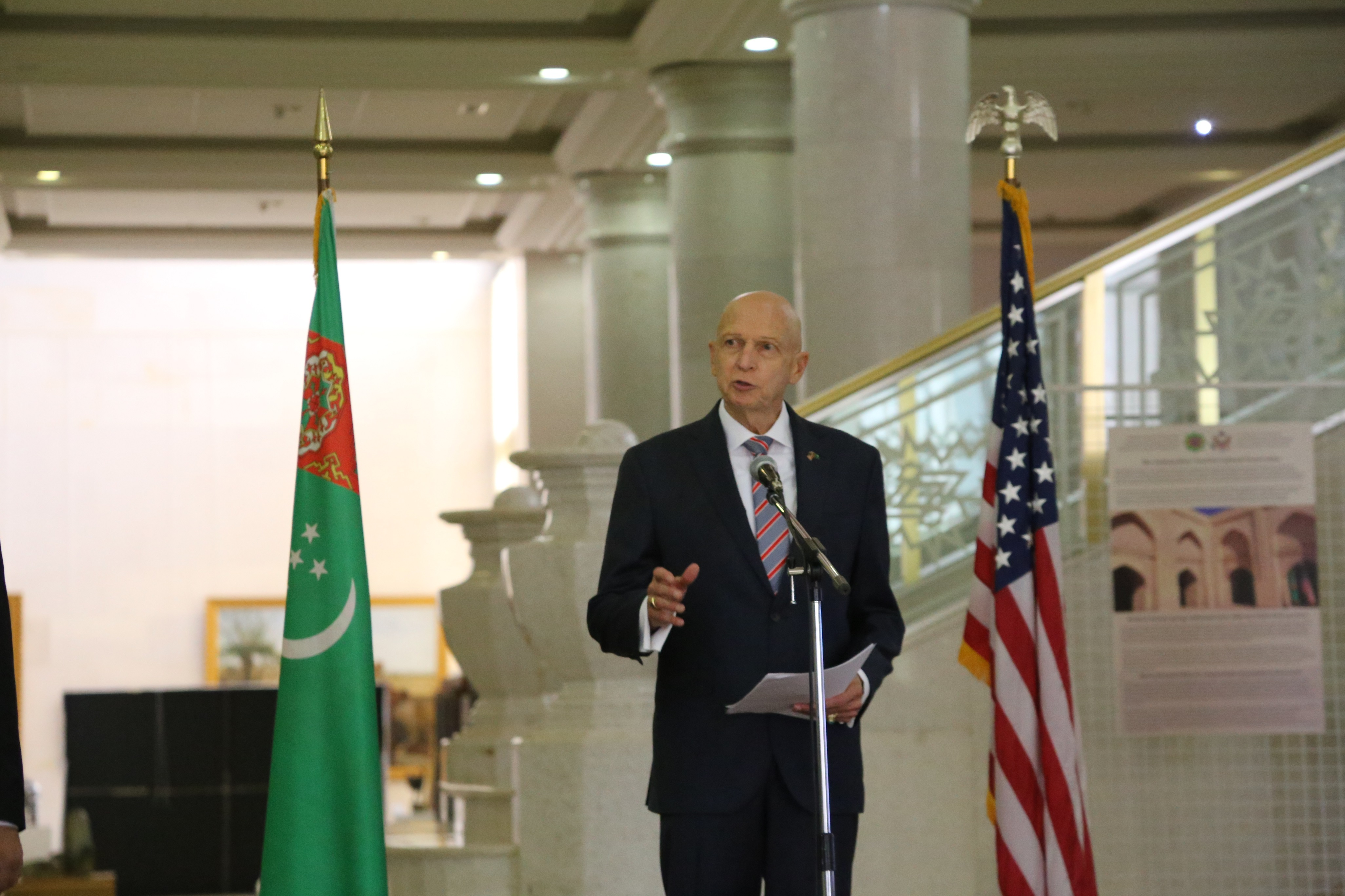 United States and Turkmenistan Mark 20 Years of Cultural Cooperation with AFCP Exhibition