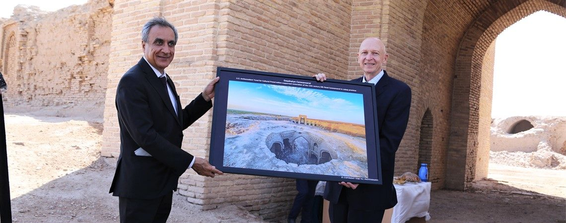 U.S. Ambassador Closes Successful Cultural Preservation Project at Dayahatyn Caravanserai