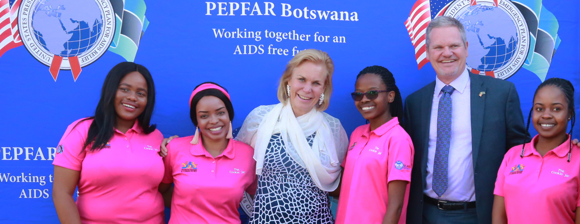 UNAIDS Executive Director Gunilla Carlsson visits Tebelopele